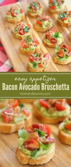 Bacon Avocado Bruschetta Appetizer - An easy, no-fuss appetizer that guests will love! #SimplyAvocado #CB AD