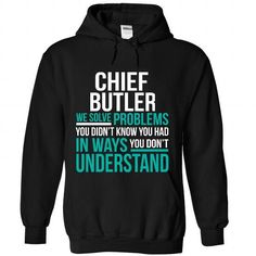 Chief Butler - #t shirt ideas #designer hoodies. GUARANTEE => https://www.sunfrog.com/Funny/Chief-Butler-5463-Black-Hoodie.html?60505