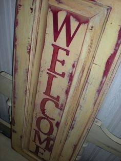Rustic Welcome by iCraftee on Etsy, $25.00