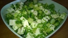 Tupun tupa: Feta-kurkkusalaatti Feta, Greens Recipe, Lettuce, Cabbage, Salads, Food And Drink, Vegetables, Cooking, Waiting