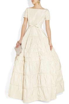 Rochas Taffeta-twill gown Second Hand Wedding Dress | Still White United Kingdom