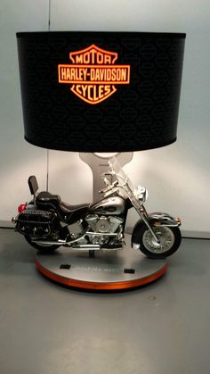 Harley Davidson Table Lamp With Head Tail Lights Night Light And Motor Sound