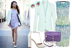 Clockwise from top left: ASOS Flat Top Round Sunglasses, $26.09, available at ASOS, Reiss One Button Jacket in Pale Mint, $370, available at Reiss; Sportmax Hudson Dress, $1,144, available at Matches; Rebecca Minkoff Mini MAC Bag, $195, available at Shopbop; Zara High Heel Sandal, $89.90, available at Zara.