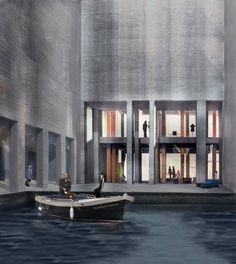 Meelfabriek by Peter Zumthor Architecture Drawings, Ancient Architecture, Sustainable Architecture, Landscape Architecture, Peter Zumthor, Studio Build, Remodels And Restorations, Collage Illustration, Facade Design