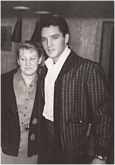 Elvis with a fan March 21, 1960; en route to Miami, FL to perform on the Frank Sinatra Special