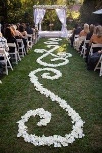 calculating rose petals for the aisle