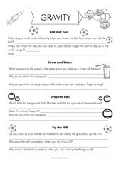 gravity worksheets gilreath pinterest worksheets. Black Bedroom Furniture Sets. Home Design Ideas