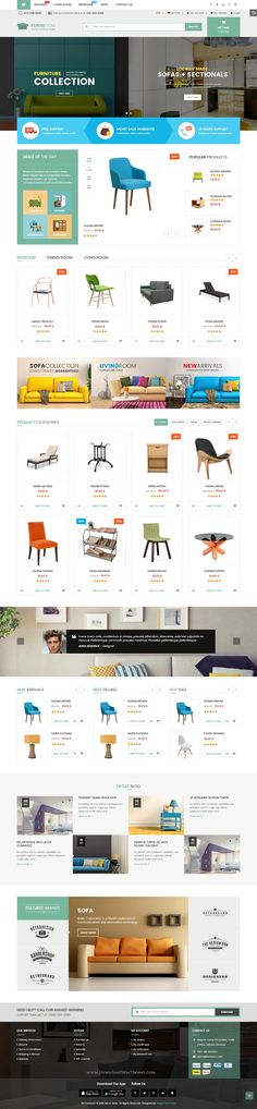 Furnicom modern, luxurious, and professional Premium Responsive Magento Theme comes with 05 homepage layout styles, which tailored for #furnitureshop theme, #interiorstores eCommerce #website.