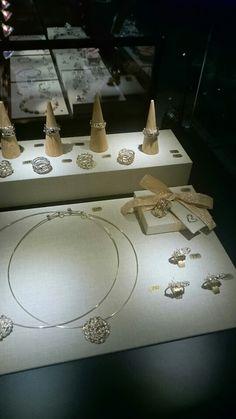 We used beautiful ringboxes that are handmade by www.1000en1boeken.nl  Our booth at Sieraad Art Fair 2015. Www.hoogenboombogers.com