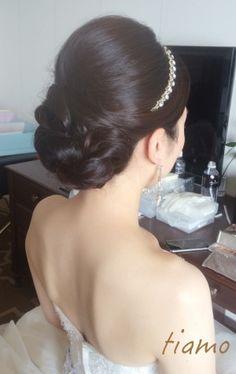 ドレスから黒引き振り袖へ♪可愛い花嫁さまのホテル婚 |大人可愛いブライダルヘアメイク『tiamo』の結婚カタログ