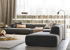 Lema Cloud Corner Sofa. Part of a modular system. This flexible system also allows you to use different materials/colours for each module too. There are many options available for the upholstery including fabric, ecoleather (a high quality faux leather) or leather and there are several categories of each. 390cm x 468cm H63
