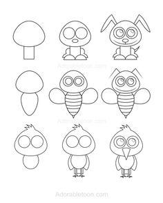 Tiere und Figuren zeichnen