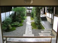 A Japanese traditional restaurant with a garden  Kyoto, Japan  料亭の中庭
