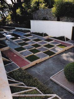 Jardín cubista de villa Noailles