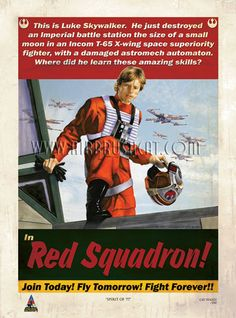 Fly for red squadron.