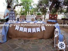 Τραπέζι Βιβλίου Ευχών με Κεράσματα και Γλυκά - Candy Bar, οργάνωση και διακόσμηση βάπτισης ΜΥΡΟΒΟΛΟΣ, με γιρλάντα όνομα του παιδιού και διακοσμητικά αντικείμενα δεξίωση στον προαύλιο χώρο της ΑγίαςΜαρίνας στην  Παιανία