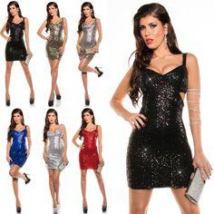 Pailletten kleider ebay