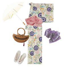 「美しいキモノ」夏号で中条 あやみさんが着用していた浴衣。菊谷萩などの秋草が紅型調でカラフルに表現されていて、甘い雰囲気のパステルカラーに、デザイン化された紺色の菊が全体をバランスよく引き締めています。カラフルな兵児帯をセレクトすれば華やかな着こなしに。外出時もたまには雰囲気を変えて、日本の夏を浴衣で可憐に美しく楽しんではいかがですか? Today's Outfit, Floral Tie, Fashion, Moda, Fashion Styles, Fashion Illustrations