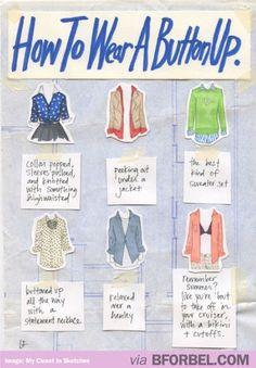 6 Ways To Wear A Button Up Shirt…