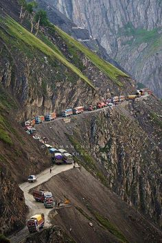 Looks like a traffic jam to some. To some it looks like an opportunity for off-roading...