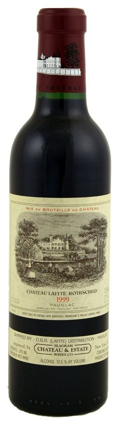 1999 Lafite-Rothschild. Type: Red Wine, Bordeaux Red Blends (Claret), Premier Cru (First Growth), 375ml. Region: France, Bordeaux, Pauillac. 270$ (6.750 Kc)