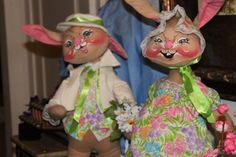 Vintage Collectable pair of Anna Lee Dolls easter by HunterBelle, $100.00