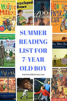 Summer Reading List for 7-Year Old Boy - Intentional By Grace