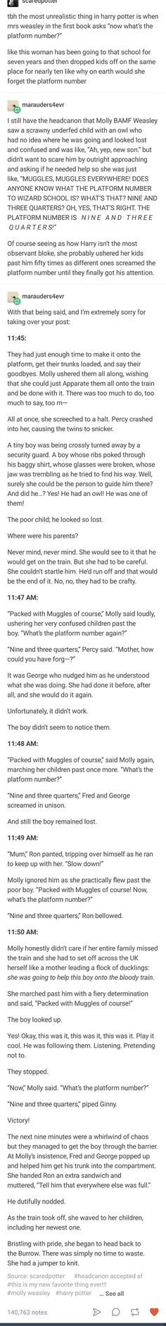 Ohhhh this is so perfect I love it so much Molly Weasley is amazing and this is definitely what happened Harry Potter Love, Harry Potter Fandom, Harry Potter Universal, Harry Potter Memes, Harry Potter World, No Muggles, Yer A Wizard Harry, Mischief Managed, Book Fandoms