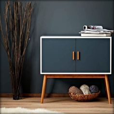 Wooden Storage Display Cabinet Box Chest Retro Modern Vintage Furniture Bedroom