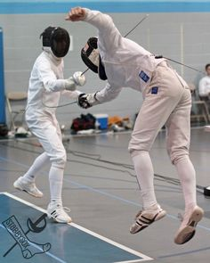 Epee fencing at the Dominick Open, April 27, 2013. Outside of Chicago, Illinois Fencers Club. stabbysox photo #1465