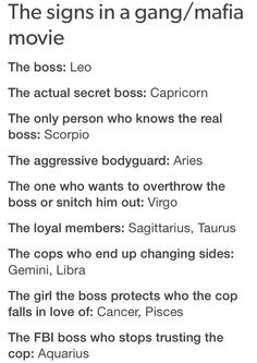 """this is epic, I would say all of these are true but I don't like the role of """"the girl the boss is trying to protect who the cop falls in love with"""""""