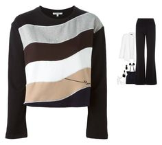 """Carven - Colour Block Wave Sweatshirt Style"" by twinklebluegem ❤ liked on Polyvore"