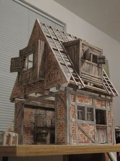 R Michael Palan's post in Miniaturas /Miniatures Miniature Houses, Miniature Dolls, Fairy Houses, Doll Houses, Small World, Model Homes, Little Houses, Dollhouse Furniture, House Rooms