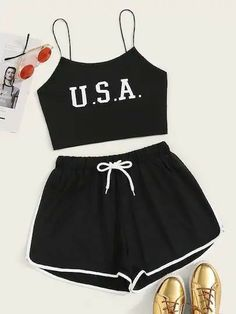 Cute Outfits With Shorts, Cute Lazy Outfits, Crop Top Outfits, Sporty Outfits, Pretty Outfits, Stylish Outfits, Emo Outfits, Summer Outfits, Girls Fashion Clothes