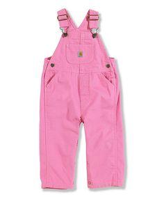 Another great find on #zulily! Carhartt Medium Pink Bib Overalls - Infant & Toddler by Carhartt #zulilyfinds