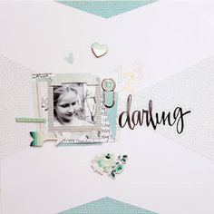 Darling by Krysty at Studio Calico Scrapbook Pages, Scrapbook Layouts, Baby Memories, Crate Paper, Square Photos, Studio Calico, Memory Books, American Crafts, Digital Scrapbooking