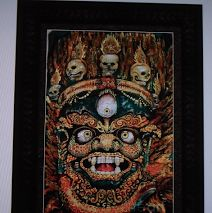 #MAHAKALA - protector of #Buddha #Dharma and protector of all sentient beings.Here is a presentation example of the piece which you can buy as a print.http://www.tillycampbellallen.com/print-shop.html www.tillycampbell... circle me / follow me & find out more about this painting www.google.com/... & as always, thanks for looking #tillycampbellallen
