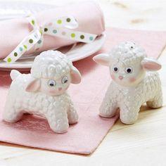 Ceramic Lamb Salt & Pepper set