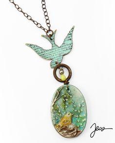N-0945 Nesting Bird - Designer: Jess Italia Lincoln Vintaj  Components