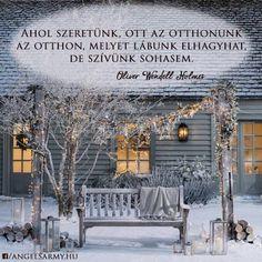 Oliver Wendell Holmes idézet az otthonról. A kép forrása: Angels' Army