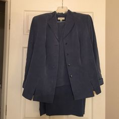 Amanda Smith Blazer, skirt and matching top What a deal!!!   Pretty blue gray dress suit.  Worn once to a job interview.  Professional and very comfortable.  Perfect condition. Amanda Smith Other