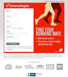 Fitness Singles Landing Page Example