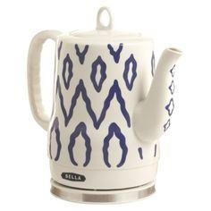 l Kettle Ceramic Electric Tea Bella Blue New 2 Aztec Design Cool Kitchen Gadgets, Cool Kitchens, Cord Storage, Aztec Designs, No Plastic, My New Room, Tea Pots, At Least, Blue And White