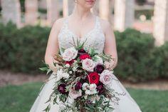 Burgundy and Blush Cascading Bouquet Cascading Bouquets, Cascade Bouquet, Bridesmaid Dresses, Wedding Dresses, Wedding Cakes, Wedding Flowers, Burgundy, Blush, Fashion