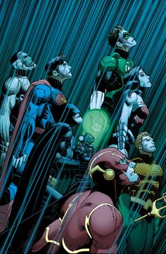 Justice League of America #10 cover by John Romita, Jr. & Danny Miki