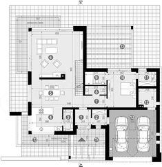 Projekt domu HomeKoncept-59 196,94 m2 - koszt budowy - EXTRADOM Modern House Plans, Pergola, Floor Plans, How To Plan, Villas, Modern Home Plans, Mansions, Arbors, Villa