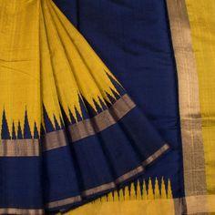 Handloom Dupion Silk Korvai Kanchipuram Saree with Temple Border Kanjivaram Sarees Silk, Indian Silk Sarees, Silk Cotton Sarees, Kanchipuram Saree, Saree Color Combinations, Cotton Saree Blouse Designs, Kerala Saree, Organza Saree, Saree Trends