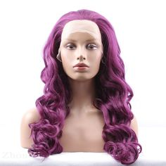 Aliexpress.com : Buy Cheap Long Curly Synthetic Lace Front Purple Wig For Black Women Heat Resistant Fashion Charming Curly Wig Hairstyles For Sale from Reliable wig lace suppliers on Wig Artisan