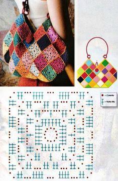 Free Crochet Bag Patterns 2016 Archives - Beautiful Crochet Patterns and Knitting Patterns Crochet Diy, Free Crochet Bag, Crochet Shell Stitch, Crochet Amigurumi, Crochet Bags, Vintage Crochet, Granny Square Crochet Pattern, Crochet Diagram, Crochet Chart