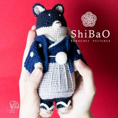 About ShiBaO /  Wearing formal kimono with family emblem, male clogs. His look is always intent, full of spirit. Everyone are impressed of his mature and silent, but only ShiBaCo can find his pure heart~ like a child.  He is ShiBaO, a handsome & conscientious role. -------------------------------------------------------------- Crochet pattern /  There are two parts of this ShiBaO Crochet pattern: one is how to make the handsome ShiBaO doll, the other is about family EMBLEM、decor...